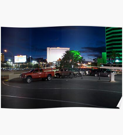 Red Truck, Las Vegas Poster
