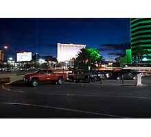 Red Truck, Las Vegas Photographic Print