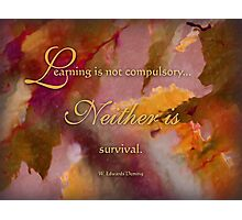 survival - wisdom saying 6 Photographic Print