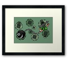 Link and Bow-Wow Framed Print