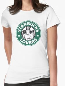 ts starbucks lovers Womens Fitted T-Shirt
