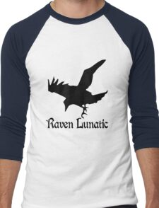Raven lunatic geek funny nerd Men's Baseball ¾ T-Shirt