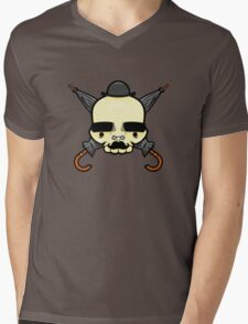 Gentleman Skull Mens V-Neck T-Shirt