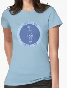 Bloom Into You - Blue Womens Fitted T-Shirt