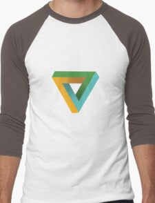 Penrose Triangle Men's Baseball ¾ T-Shirt