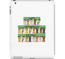 Cats celebrating birthdays on December 13th. iPad Case/Skin