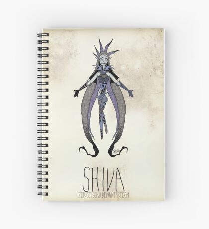 Tim Burton Shiva Spiral Notebook