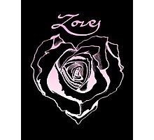Rose Heart Photographic Print