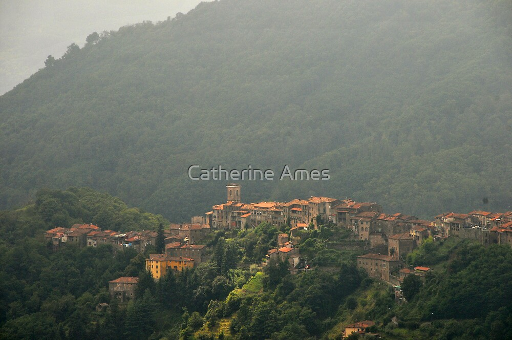 Village of Tereglio, Tuscany, Italy by Catherine Ames