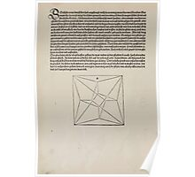 Measurement With Compass Line Leveling Albrecht Dürer or Durer 1525 0080 Repeating Shapes Poster