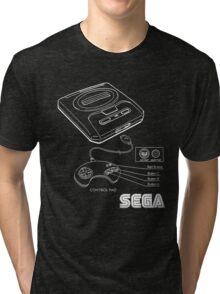Sega Genesis Technical Diagram Tri-blend T-Shirt