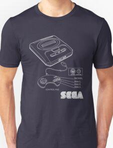 Sega Genesis Technical Diagram Unisex T-Shirt
