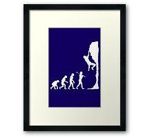 Rock climbing evolution geek funny nerd Framed Print
