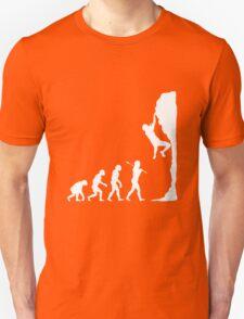 Rock climbing evolution geek funny nerd Unisex T-Shirt