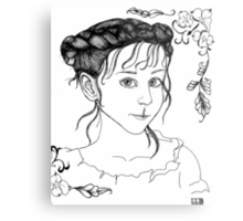 RedBubble Portrait of Gracie Metal Print