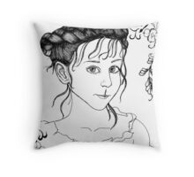 RedBubble Portrait of Gracie Throw Pillow