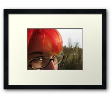 five colours in her hair Framed Print