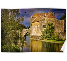 On the Moat At Leeds Castle Poster