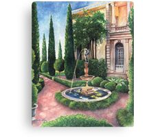 Formal Flora and Architecture Canvas Print