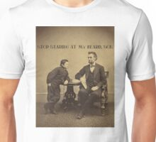 Lincoln - Stop Staring at My Beard Unisex T-Shirt