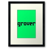 Straight up grover geek funny nerd Framed Print