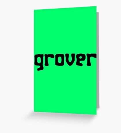 Straight up grover geek funny nerd Greeting Card