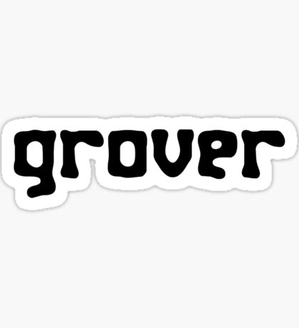 Straight up grover geek funny nerd Sticker