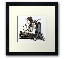Tired Time Lord Framed Print