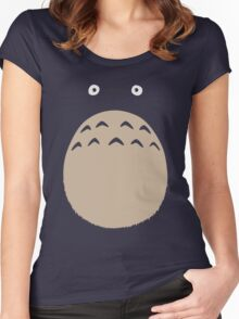 My Neighbor Totoro - Face and Chest Women's Fitted Scoop T-Shirt