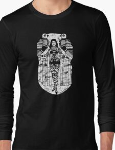Tattoo Lady with Birds Long Sleeve T-Shirt