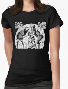 dueling clowns Womens Fitted T-Shirt