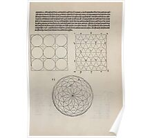 Measurement With Compass Line Leveling Albrecht Dürer or Durer 1525 0063 Repeating Shapes Poster