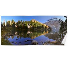 Blue Lake and Larches - Okanogan N. F. Poster