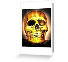 skull with effects Greeting Card