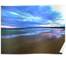 Surf at Sunset Poster