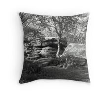 Brimham Rocks Tableau ~ Not So Far From The Madding Crowd Throw Pillow