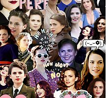 Hayley Atwell Collage by Jillsadetective