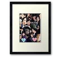 Sherlock Collage Framed Print