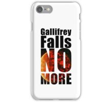 Gallifrey - No More - Simple Typography Collection iPhone Case/Skin