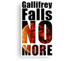Gallifrey - No More - Simple Typography Collection Canvas Print