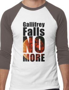 Gallifrey - No More - Simple Typography Collection Men's Baseball ¾ T-Shirt