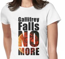 Gallifrey - No More - Simple Typography Collection Womens Fitted T-Shirt