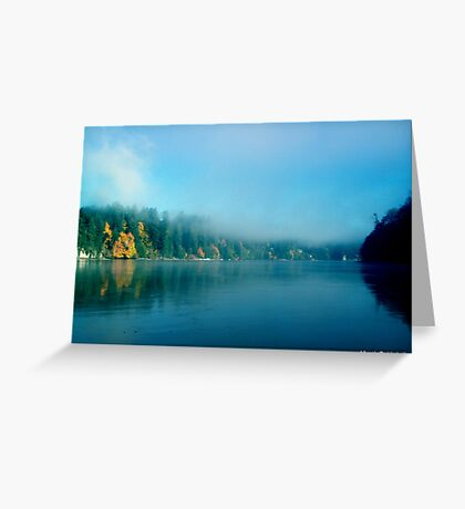 Puget Sound Fog Greeting Card