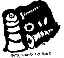 Nuts,screws and bolt Photographic Print