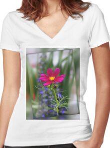 Summertime colors Women's Fitted V-Neck T-Shirt