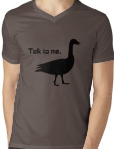 Talk to me goose geek funny nerd Mens V-Neck T-Shirt
