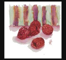 Ripe Red Radberries 4 One Piece - Short Sleeve