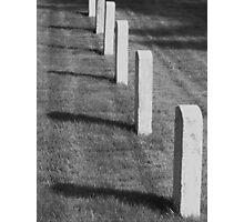 Fort Worden memorial cemetery Photographic Print