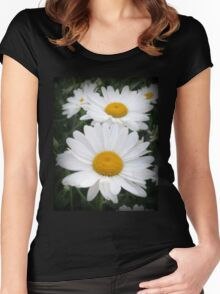 A Lovely Pair Of Shasta Daisies Women's Fitted Scoop T-Shirt