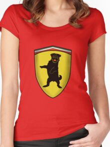 Ferrari Pug Women's Fitted Scoop T-Shirt